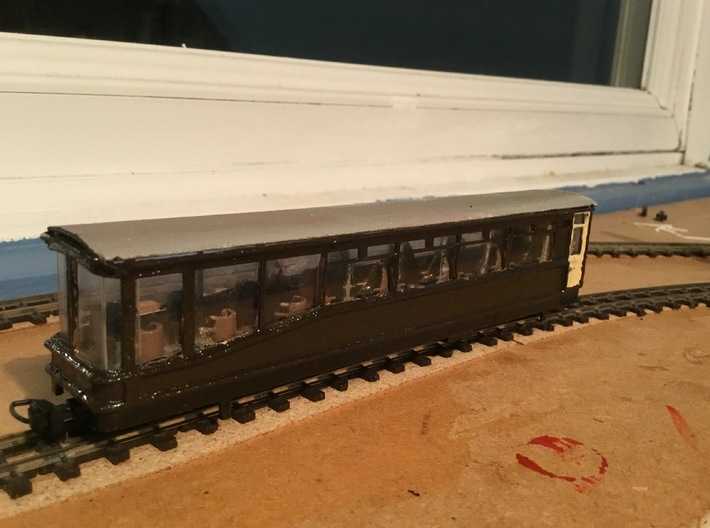 Ffestiniog Rly Superbarn observation coach NO.150 3d printed The finished product render 2