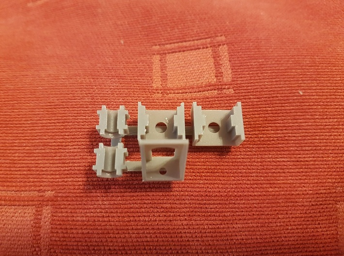 Revised Bulleid chassis parts 2/2 3d printed Resin test prints