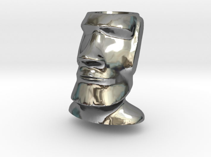 Moai Easter Island Head Charm by Kaceahttps 3d printed