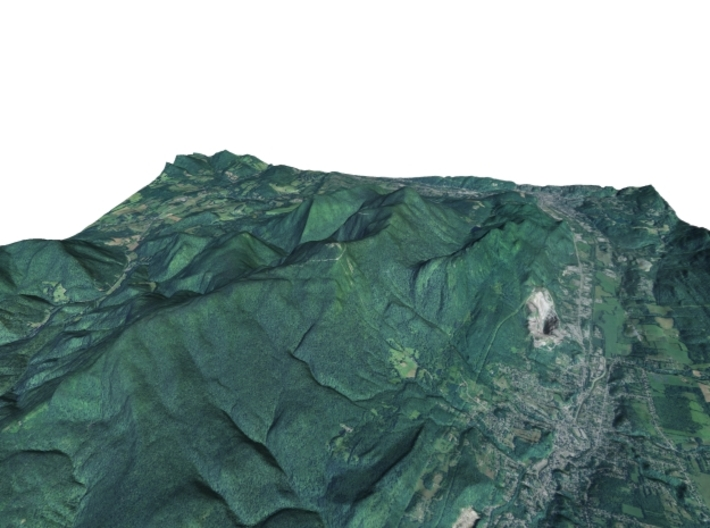 "Mount Greylock Map: 6"" 3d printed"
