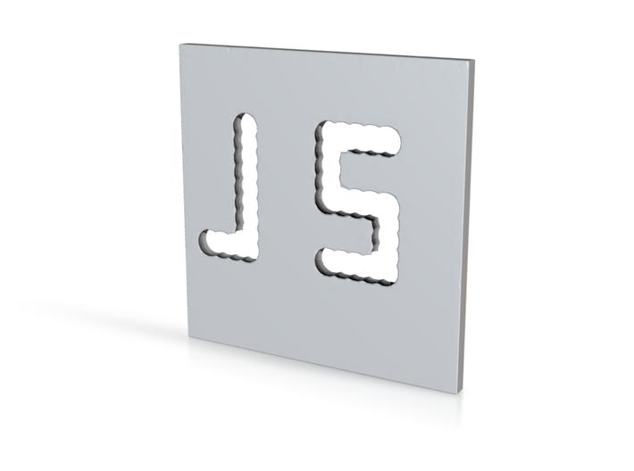 J NamePlate 3d printed
