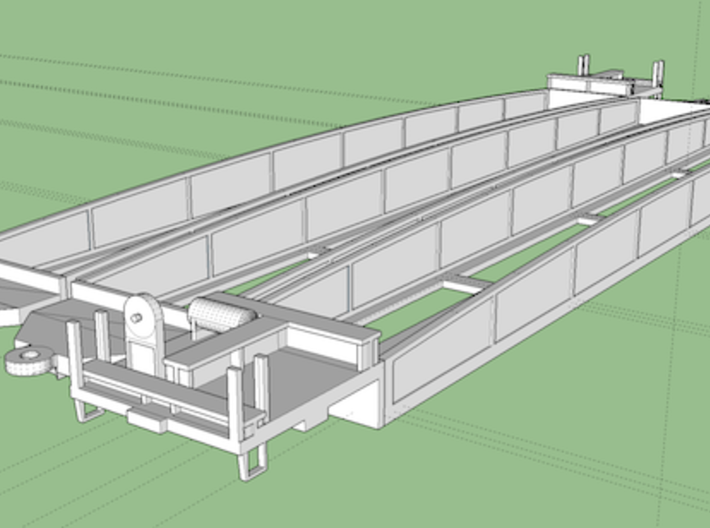 N scale Three Unit Articulated Container Car 3d printed