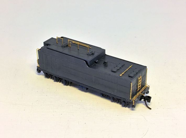 ATSF TENDER,15000 gallon, flat/parts 3d printed