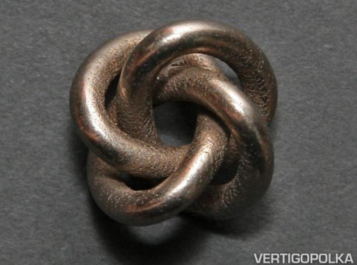 Quatrefoil Knot 1inch 3d printed Quatrefoil Knot 1inch - stainless steel