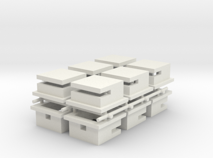 Omaha Beach Block House x12 3d printed