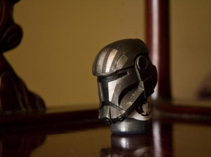 Special Ops Helmet 3d printed The helmet after getting a paintjob. (Perspective View)
