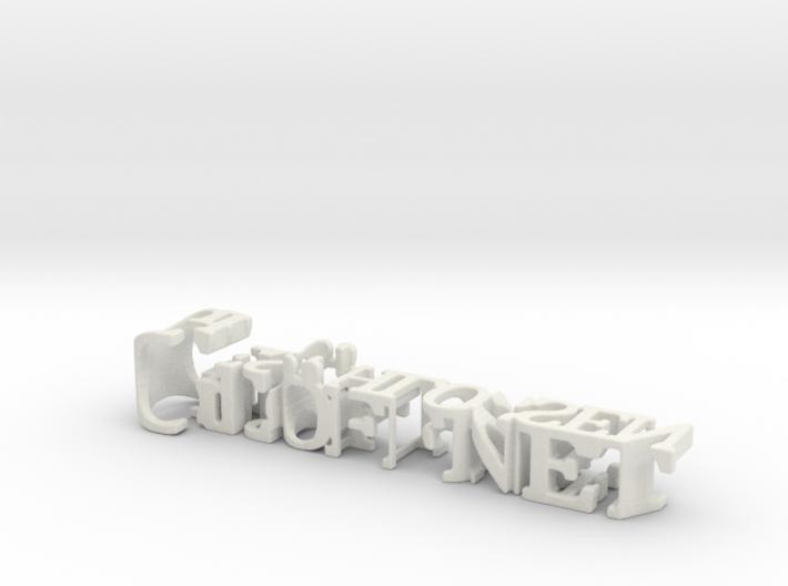 3dWordFlip: Geöffnet/Geschlossen 3d printed