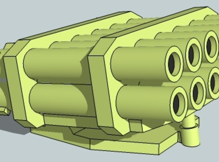 15mm Kalliope/MLRS Turret 3d printed