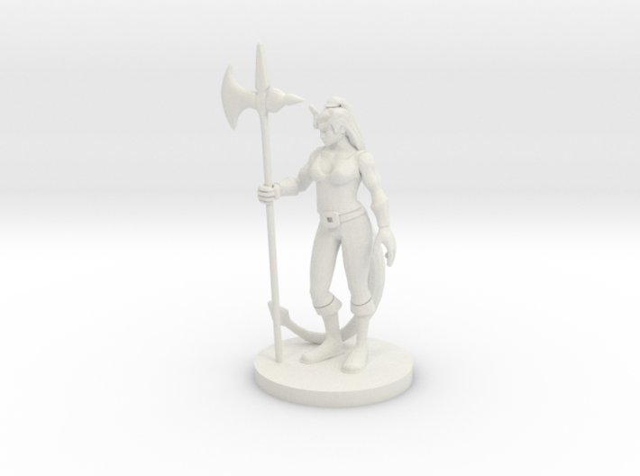 Tiefling Female Barbarian 3d printed