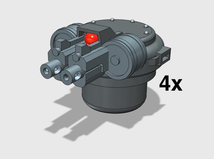4x Twin Rapfire Hatch Turret (Troop Tank) 3d printed