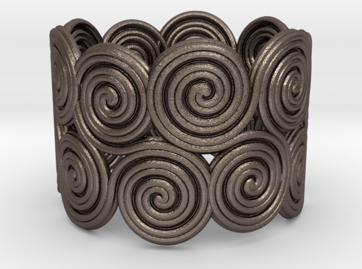 The celtic water-spiral endless ring 3d printed