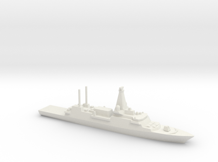 Type 26 frigate (2017 Proposal), 1/1800 3d printed