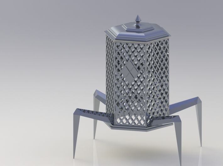 Diamond Pattern Palanquin Dice Tower 3d printed