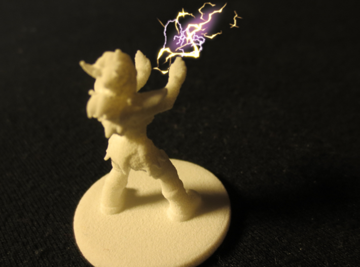1:54/D&D Helja, Dwarven Dracomancer,  3d printed Does not actually cast magic