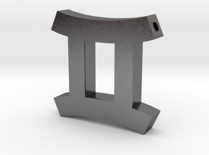 Gemini Symbol Pendant 3d printed