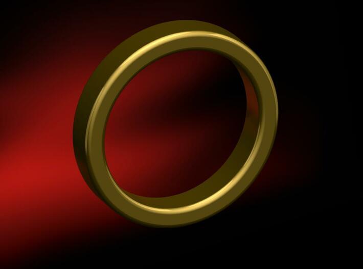 Custom Rings 3d printed Photo Render, Size 5 Standard Ring