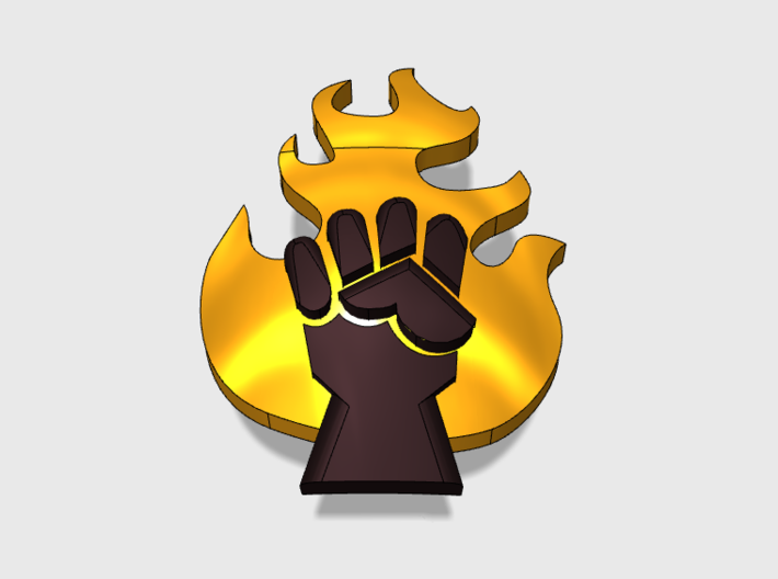 Fire Lords : Shoulder Insignia pack 3d printed