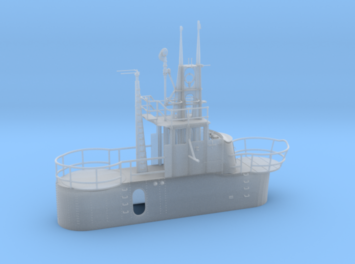 1/72 US Gato Conning Tower (Fairwater) 3d printed