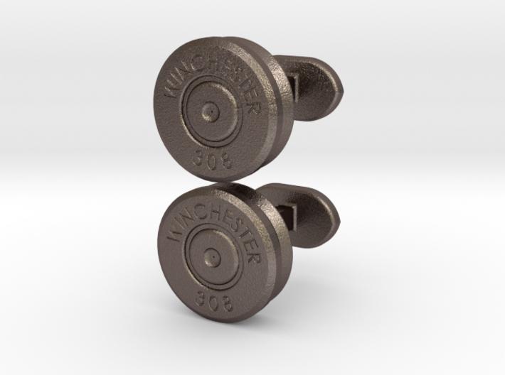 Bullet cufflinks 3d printed