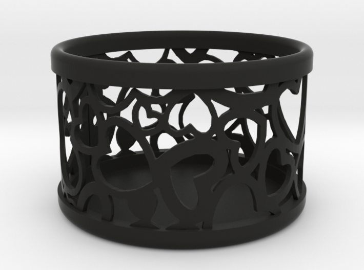 Small tealight holder with Hearts  3d printed