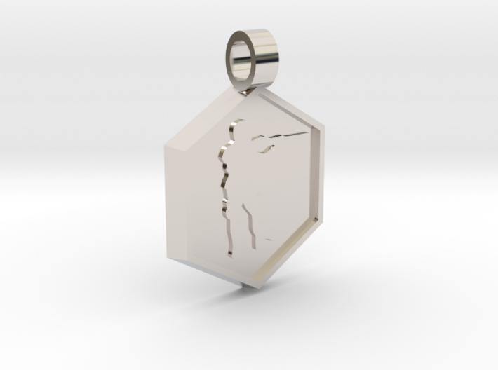Soldier [pendant] 3d printed