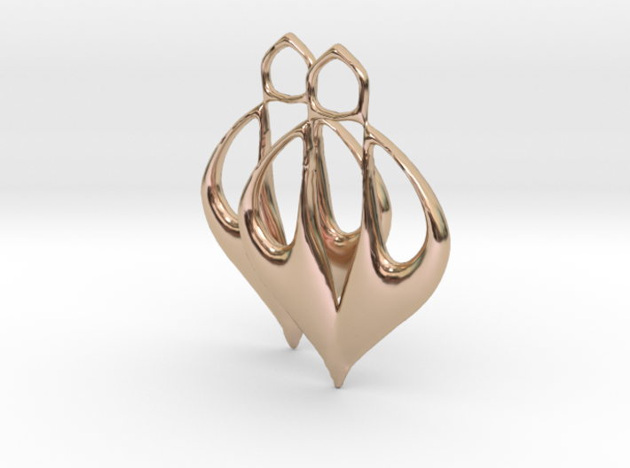 Caley Earrings 3d printed