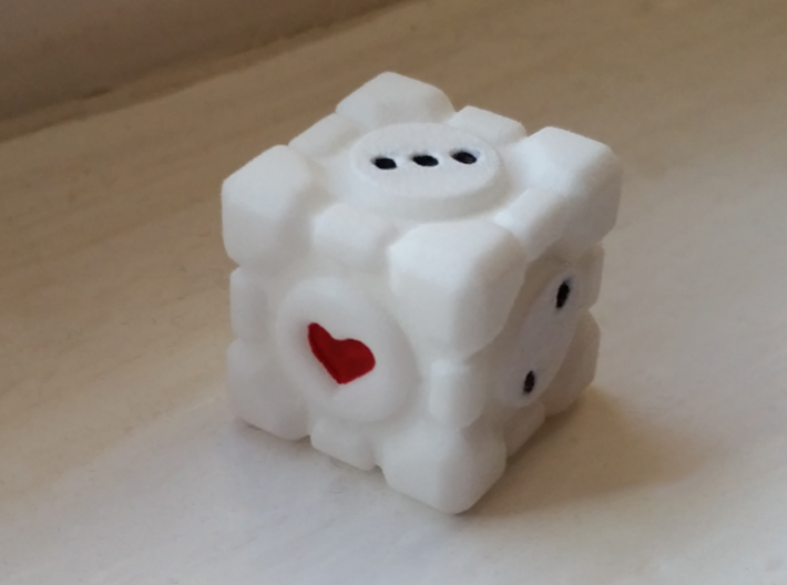 Portal Companion Cube Dice 19mm 3d printed
