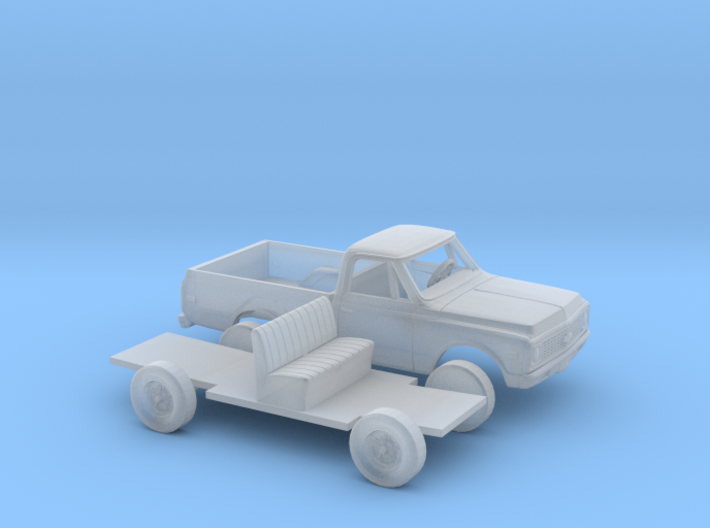 1/87 1970-72 Chevy C-Series Short Bed Kit 3d printed