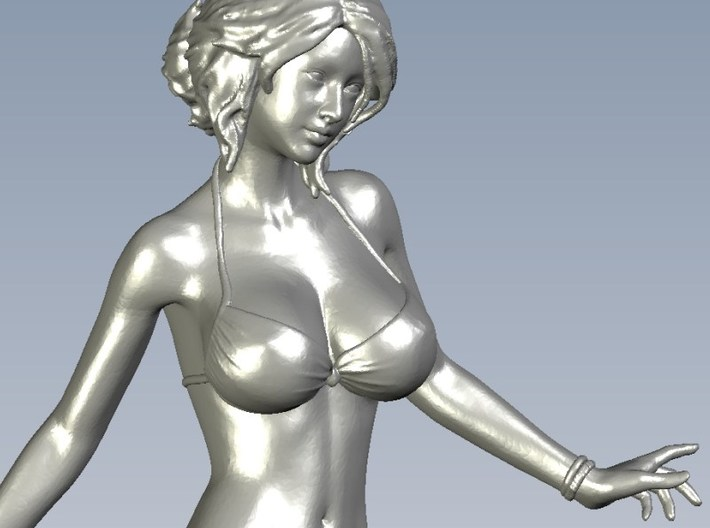 1/15 scale bikini beach girl posing figure B 3d printed