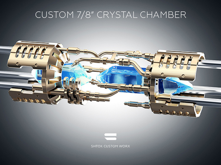 """Custom CC 7/8"""" Part V1_D 3d printed Without Custom Crystal Energy Ports"""