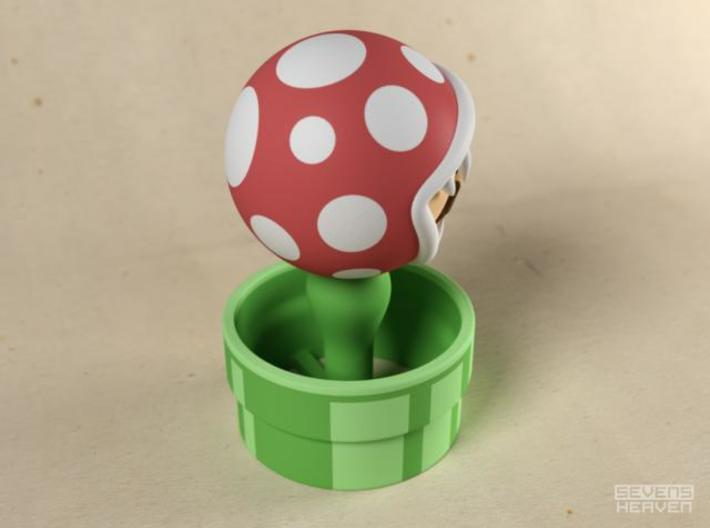 Game Over Mario 3d printed Mario eaten by Piranha plant gadget image C