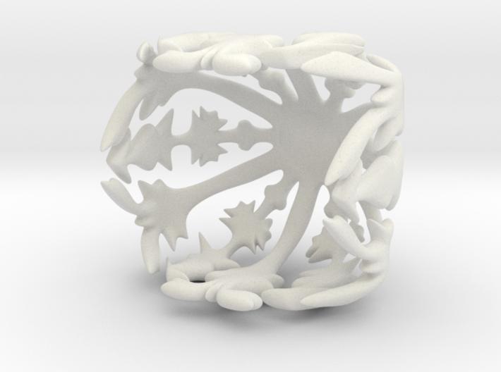 Tiny snowflake bowl 3d printed