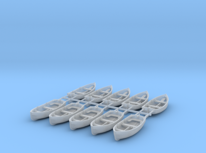 1/144 Scale Allied 10ft Dinghy x10 Rudder Outboard 3d printed 1/144 Scale Allied 10ft Dinghy x10 Rudder Outboard