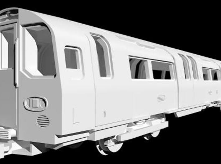 NT95DMu 1:148 95 tube stock driving motor (unpower 3d printed Rendering of the CAD model