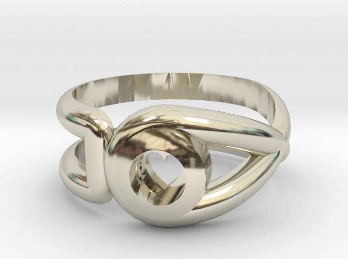 Cancer Survivor Ring 3d printed