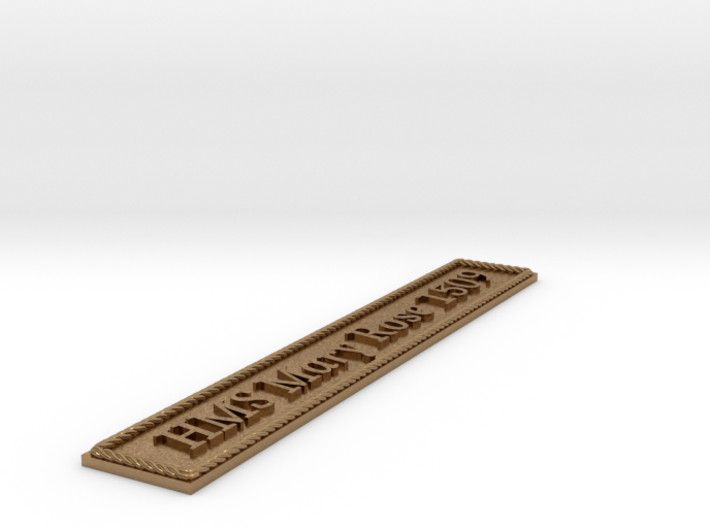 Nameplate: HMS Mary Rose 1509 3d printed