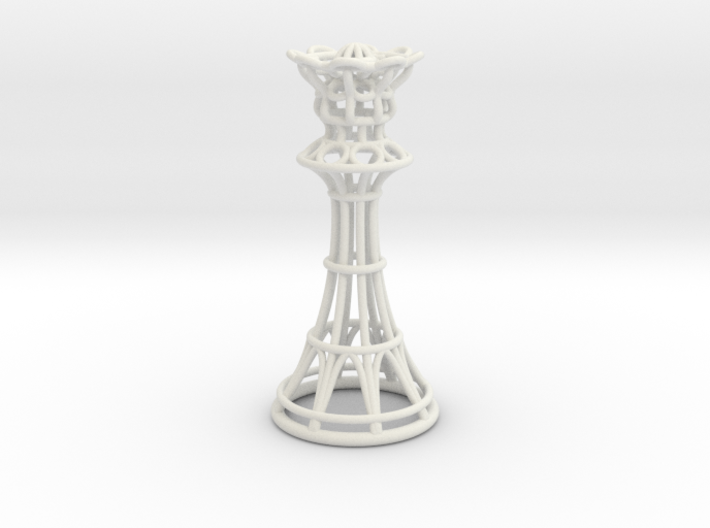 Hollow Chess Set - Queen 3d printed