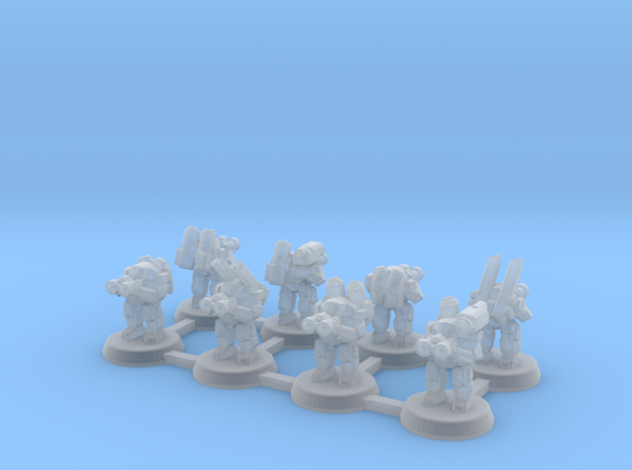 Powered Armor Recon Squad 3d printed
