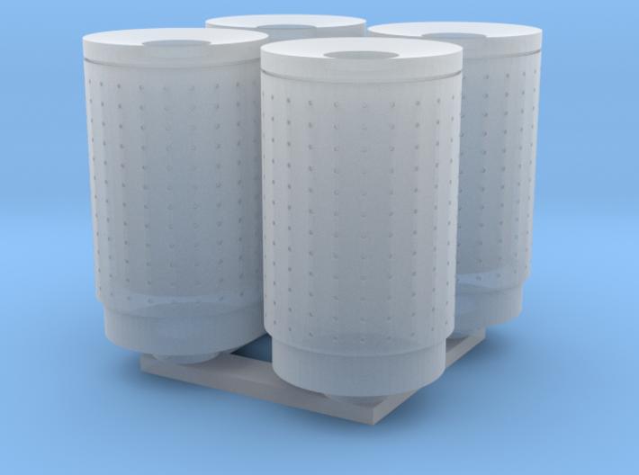 DSB 80L Affaldsbeholder (4stk) 1:87 3d printed