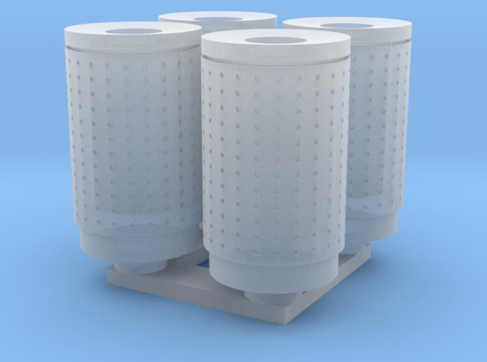 DSB 80L Affaldsbeholder (4stk) 1:120 3d printed