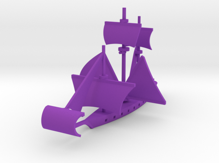 Fan Sail Ship 3d printed