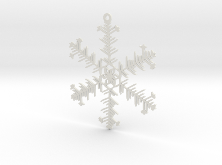 Organic Snowflake Ornament - Iceland 3d printed