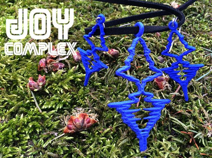 "French - ""Je t'aime"" Sound Wave Necklace 3d printed"