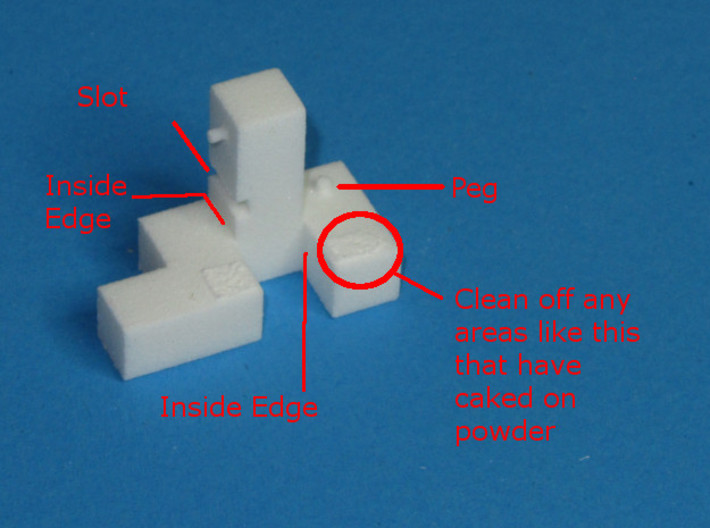 Titan – Interlocking Cube Puzzle w/ Pegs and Slots 3d printed Clean off any Caked On powder that may be left on the parts