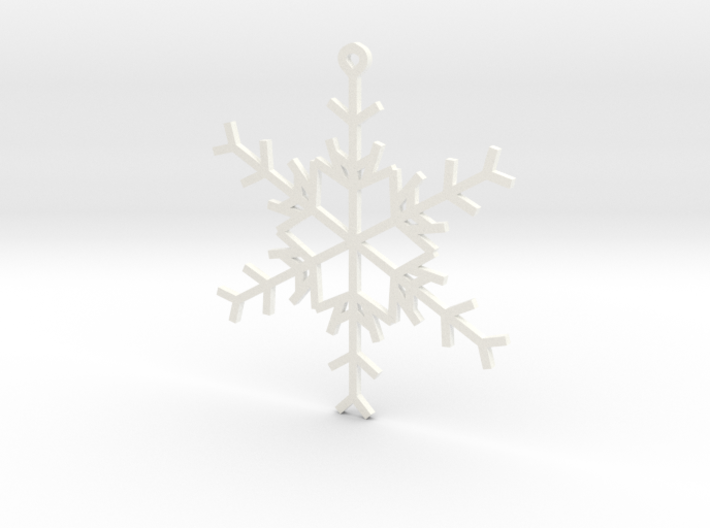 6 Point Snowflake Ornament 3d printed
