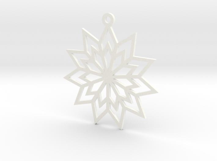 Geometric Flower Ornament 3d printed