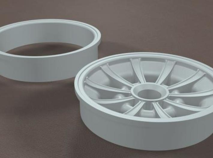 TDR 427 Roadster Sunburst Street Wheel 3d printed