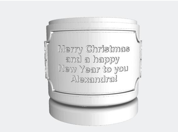 Gift Box small with Stars, Ornament & Label No. 3 3d printed Text example with blanks.