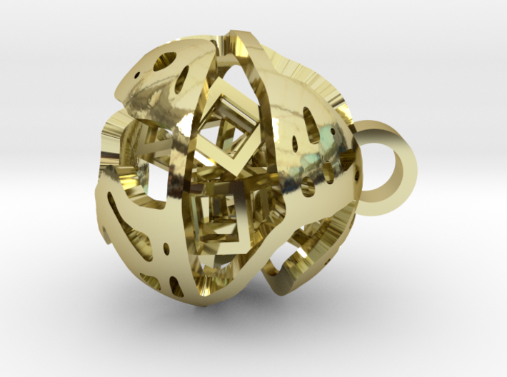 Pendant Abstract Ball 3d printed