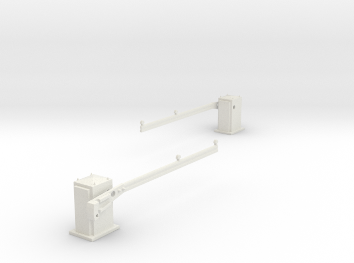 SPX UK level crossing barriers (AHB) 00,H0 3d printed